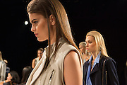 Models at the Monika Chiang show at Spring 2013 Fashion Week in New York.