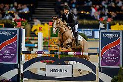 Tijskens Aaron, BEL, Superbre de Laloena<br /> Vlaanderens Kerstjumping<br /> Memorial Eric Wauters<br /> Jumping Mechelen 2017<br /> © Hippo Foto - Dirk Caremans<br /> 30/12/2017