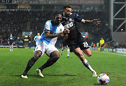 Blackburn Rovers's Doneil Henry challenges Bolton Wanderers' Craig Davies - Photo mandatory by-line: Richard Martin-Roberts/JMP - Mobile: 07966 386802 - 11/03/2014 - SPORT - Football - Blackburn - Ewood Park - Blackburn Rovers v Bolton Wanderers - Sky Bet Championship