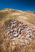 Chumash burial site, Santa Cruz Island, Channel Islands National Park, California USA