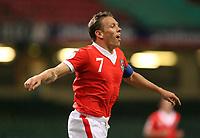 Photo: Rich Eaton.<br /> <br /> Wales v Cyprus. UEFA European Championships 2008 Qualifying. 11/10/2006. captain of Wales Craig Bellamy celebrates scoring his second half goal