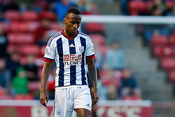 Saido Berahino of West Brom looks frustrated - Mandatory byline: Rogan Thomson/JMP - 07966 386802 - 28/07/2015 - SPORT - Football - Walsall, England - Besot Stadium - Walsall v West Bromwich Albion - 2015/16 Pre Season Friendly.