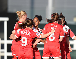 Bristol Academy's Jade Boho Sayo celebrates her debut goal - Mandatory by-line: Paul Knight/JMP - 25/07/2015 - SPORT - FOOTBALL - Bristol, England - Stoke Gifford Stadium - Bristol Academy Women v Sunderland AFC Ladies - FA Women's Super League