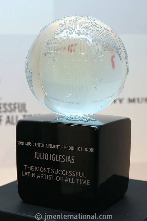 Julio Iglesias &quot;The Most Successful Latin Artist Of All Time Award&quot;<br /> Presented at the Dorchester Hotel.<br /> Monday,  May 12th, 2014 (Photo/John Marshall JM Enternational)