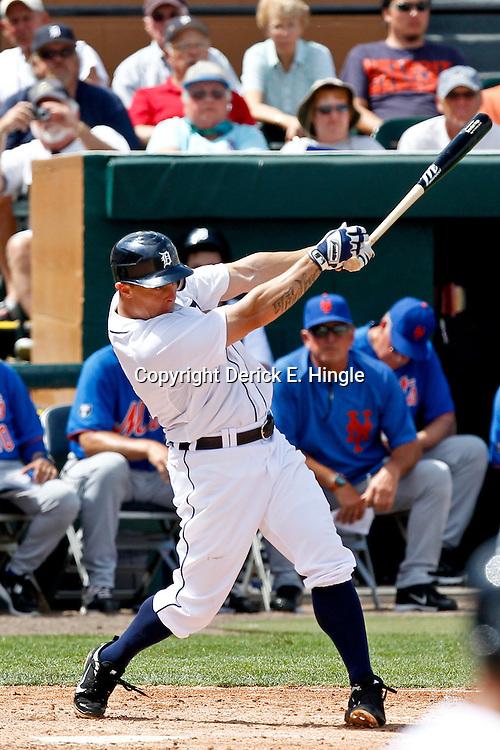 March 14, 2012; Lakeland, FL, USA; Detroit Tigers third baseman Brandon Inge (15) against the New York Mets during a spring training game at Joker Marchant Stadium. Mandatory Credit: Derick E. Hingle-US PRESSWIRE