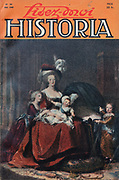 Front cover of issue no. 30 of Lisez-Moi Historia, a monthly history magazine, published May 1949, featuring an article on the end of Hitler by A Francois-Poncet, with a painting of Marie Antoinette and her children by Vigee Le Brun on the cover. Historia was created by Jules Tallandier and published 1909-37 and again from 1945. Picture by Manuel Cohen