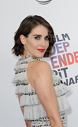 Alison Brie at the 2018 Film Independent Spirit Awards held at Santa Monica Beach, USA on March 3, 2018.