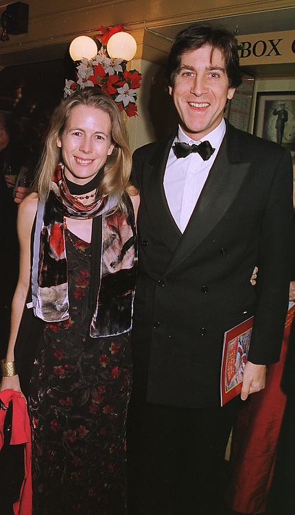 MR RUPERT & the HON.MRS SCOTT, she is the daughter of Lord Montagu of Beaulieu, at a show in London on 7th December 1998.MMS 23