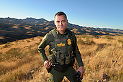 Nogales, Arizona, USA; 29th, November, 2016; U.S. Border Patrol agent, Vicente Paco, speaks about the work of agents along the international border with Mexico from the desert about 20 miles northwest of Nogales, Arizona, USA, on November 29, 2016.  (PHOTO: ©Norma Jean Gargasz for The Guardian)