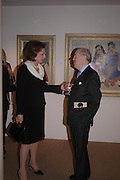 Mrs. John Mackinnon and Viscount Churchill . 'The Road to Abtsraction' an exhibition of paintings by Rosita Marlborough. the Fleming Collection. 13 Berkeley St. London W1. 31 March 2005. ONE TIME USE ONLY - DO NOT ARCHIVE  © Copyright Photograph by Dafydd Jones 66 Stockwell Park Rd. London SW9 0DA Tel 020 7733 0108 www.dafjones.com