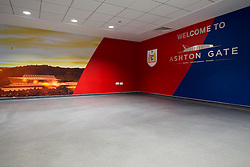New mixed zone in the Lansdown Stand at Ashton Gate - Rogan Thomson/JMP - 30/01/2017 - SPORT - Ashton Gate Stadium - Bristol, England - New West Stand Facilities.