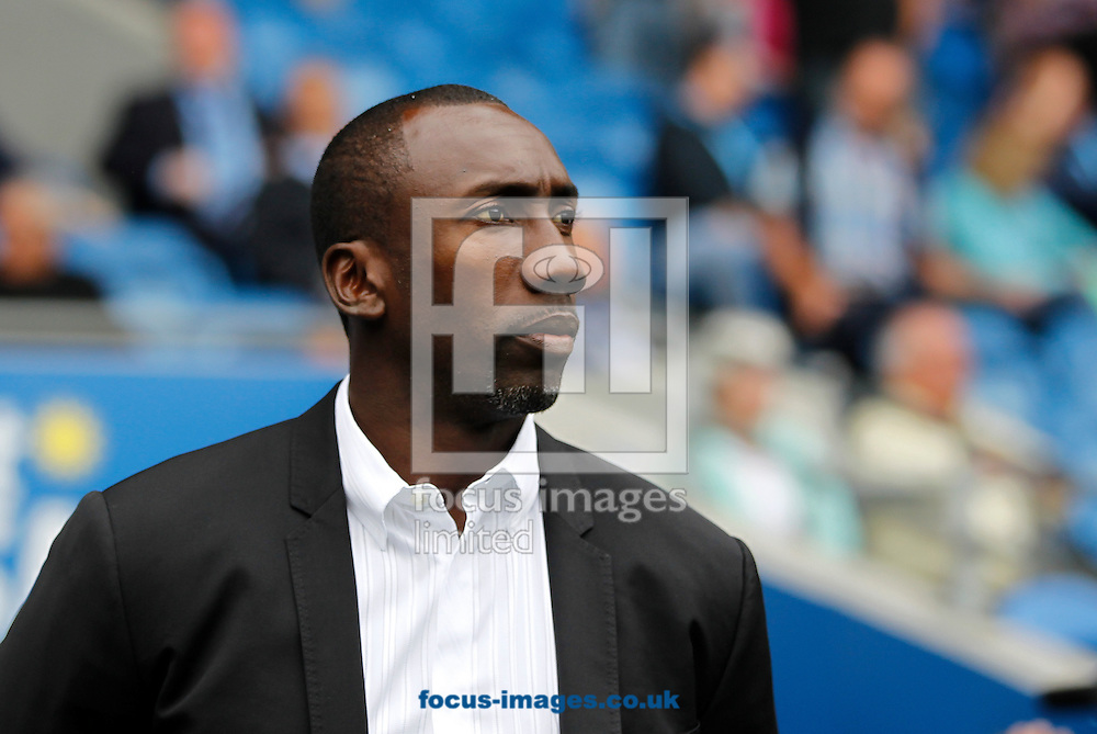 Jimmy Floyd Hasselbaink of Queens Park Rangers during the Sky Bet Championship match at the Cardiff City Stadium, Cardiff<br /> Picture by Mike Griffiths/Focus Images Ltd +44 7766 223933<br /> 14/08/2016