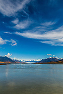 Knik River and Glacier, fall, autumn, afternoon
