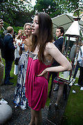 TAMZIN EGERTON; TALLULA RILEY, Tatler Summer Party. The Hempel. Craven Hill Gdns. London. 25 June 2008 *** Local Caption *** -DO NOT ARCHIVE-© Copyright Photograph by Dafydd Jones. 248 Clapham Rd. London SW9 0PZ. Tel 0207 820 0771. www.dafjones.com.