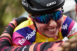 Lisa Klein (GER) celebrates the GC win at Healthy Ageing Tour 2019 - Stage 5, a 124.3 km road race in Midwolda, Netherlands on April 14, 2019. Photo by Sean Robinson/velofocus.com