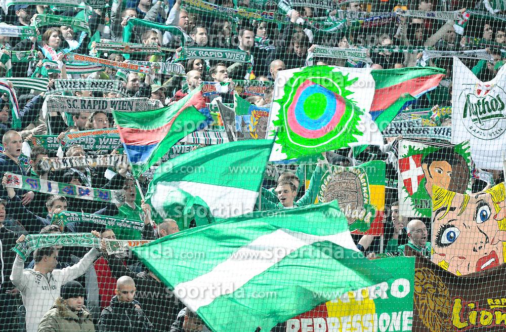 23.03.2010, Gerhard Hanappi Stadion, Wien, AUT, 1. FBL, SK Rapid Wien vs SV Mattersburg, im Bild Rapid Fans, EXPA Pictures © 2010, PhotoCredit: EXPA/ M. Gruber / SPORTIDA PHOTO AGENCY