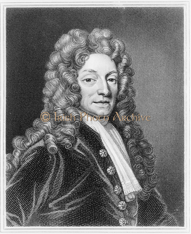 Christopher Wren (1632-1723) English architect, mathematician and physicist. 18th century engraving .