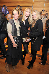 Left to right, BAY GARNETT, JADE PARFITT and SAVANNAH MILLER at a party in aid of the charity Best Buddies held at the Hogan store, 10 Sloane Street, London SW10 on 13th May 2009.