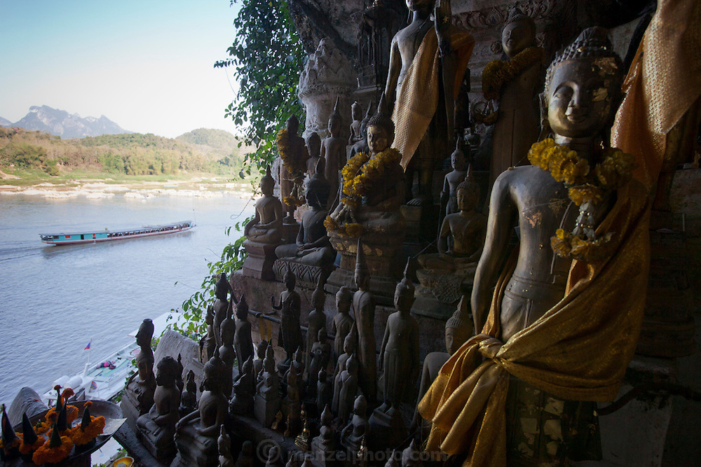 Thousand Buddha Caves on the Mekong River, Luang Prabang, Laos..