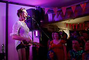 Amanda Palmer <br /> live at Her Upstairs, Camden Town, London, Great Britain <br /> 21st September 2017 <br /> <br /> Amanda Palmer <br /> and friends <br /> <br /> Photograph by Elliott Franks <br /> Image licensed to Elliott Franks Photography Services Raising awareness and funds for The Outside Project which aims to create the UK's first LGBTIQ+ winter shelter