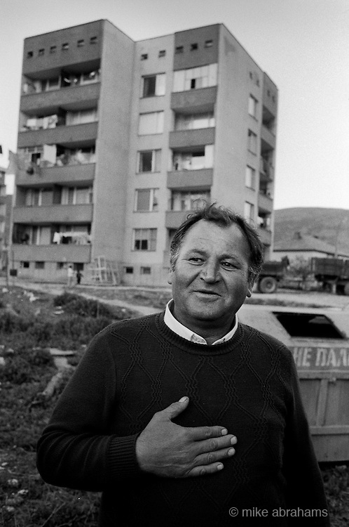 Momiclgrad. A town prodominantly occupied by ethnic turks who have reisted the authorities attempts at enforced assimilation to be met with force and deportations. Bulgaria, April 1989