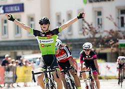 Jaka Primozic of KK Sava Kranj celebrates during cycling race On the streets of Kranj 2016, on July 31, 2016 in Kranj centre, Slovenia. Photo by Vid Ponikvar / Sportida
