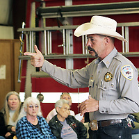 Cibola County Sheriff Tony Mace responded in April to Bluewater Acres Volunteer Fire Department to answer questions after a home was robbed when its residents evacuated during the Diener Canyon and Bluewater fires. Already stretched for resources, sheriff's deputies stepped up patrols.