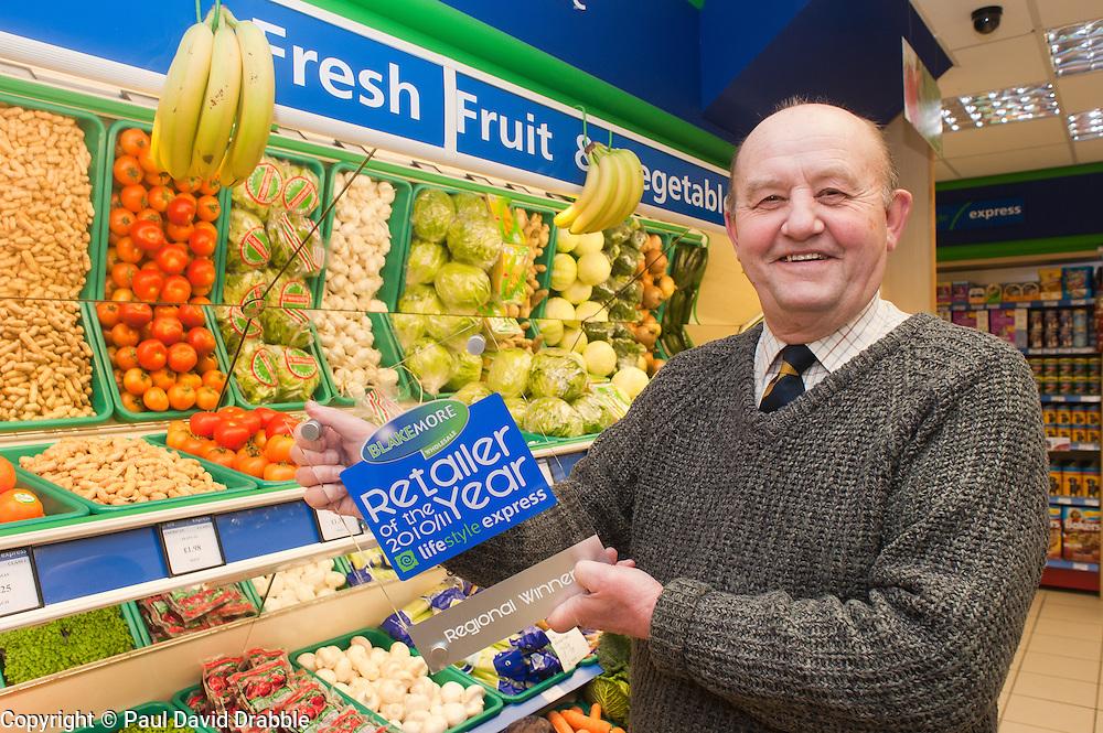 Blakemore Retailer of the year Grimsby Regional Finalist Derek Hallett  of Hallets in Cleethorpes..21 January 2010.Images © Paul David Drabble.