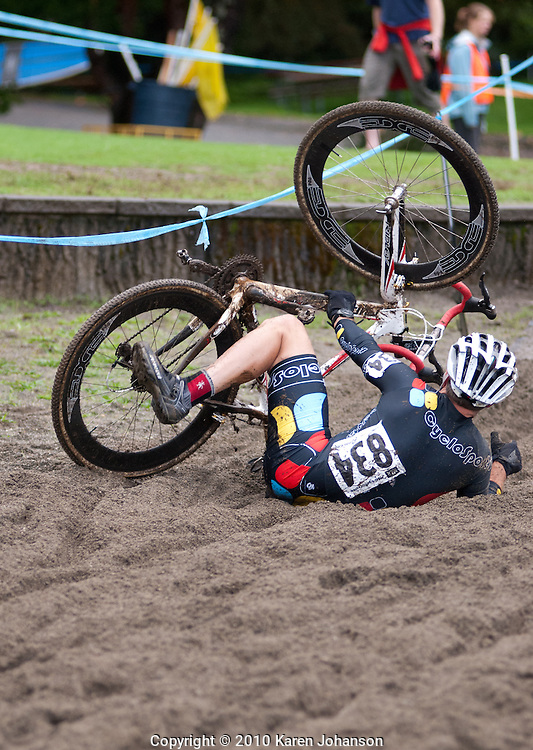 Sand and greasy mud were constant challenges for the racers at the Rad Racing GP at Lake Sammamish State Park on September 19, 2010.