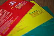 Manav Seva Sansthan, MSS, an anti-trafficking organization, give out postcards to people, mainly women, crossing the border into India from Nepal. The postcards use a traffic light system. If the person is in trouble they can send a red card, if it is OK but they are unsure a yellow one and if all is well green one.  Each card is already stamped and addressed.