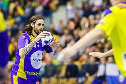 Dejan Bombac #44 of KS Vive Tauron Keilce during handball match between RK Celje Pivovarna Lasko (SLO) and KS Viive Tauron Kielce (POL) in Group phase of EHF Men's Champions League 2016/17, on February 19, 2017 in Arena Zlatorog, Celje, Slovenia. Photo by Grega Valancic