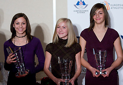 Eva Trost, Doroteja Rebernik and Eva Vivod at Best Slovenian athlete of the year ceremony, on November 15, 2008 in Hotel Lev, Ljubljana, Slovenia. (Photo by Vid Ponikvar / Sportida)