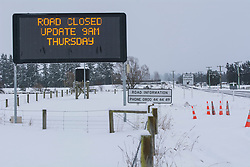 Road signage for state Highway 73 near Springfield, inland Canterbury, New Zealand, Thursday, July 13, 2017. Credit:  SNPA / David Alexander -NO ARCHIVING-