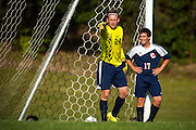 The boys varsity soccer game between the Hartford Hurricanes and the Mount Mansfield Cougars at MMU High School on Tuesday afternoon September 1, 2015 in Jericho, Vermont.