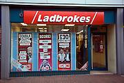 Ladbrokes betting shop window display