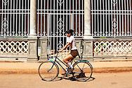 Bicycling in Alquizar, Artemisa, Cuba.