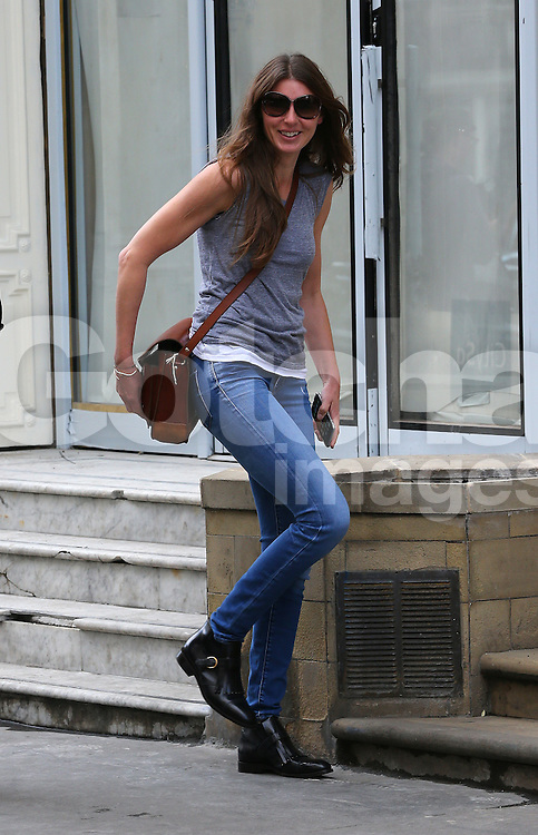 Jools Oliver visits Victoria Beckham's boutique store in Mayfair, London, UK. 01/10/2014<br />BYLINE MUST READ : JAMESY/GOTCHA IMAGES<br /><br />Copyright by &copy; Gotcha Images Ltd. All rights reserved.<br />Usage of this image is conditional upon the acceptance <br />of Gotcha Images Ltd, terms and conditions available at<br />www.gotchaimages.com