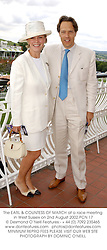 The EARL & COUNTESS OF MARCH at a race meeting in West Sussex on 2nd August 2002.	PCN 17