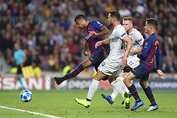 October 24, 2018 - Barcelona, Spain - Barcelona, Spain, October 24, 2018: Rafinha Alcantara of FC Barcelona kicks the ball to score his side's opening goal under pressure from Danilo D Ambrosio of FC Internazionale during the UEFA Champions League, Group B football match between FC Barcelona and FC Internazionale on October 24, 2018 at Camp Nou stadium in Barcelona, Spain (Credit Image: © Manuel Blondeau via ZUMA Wire)