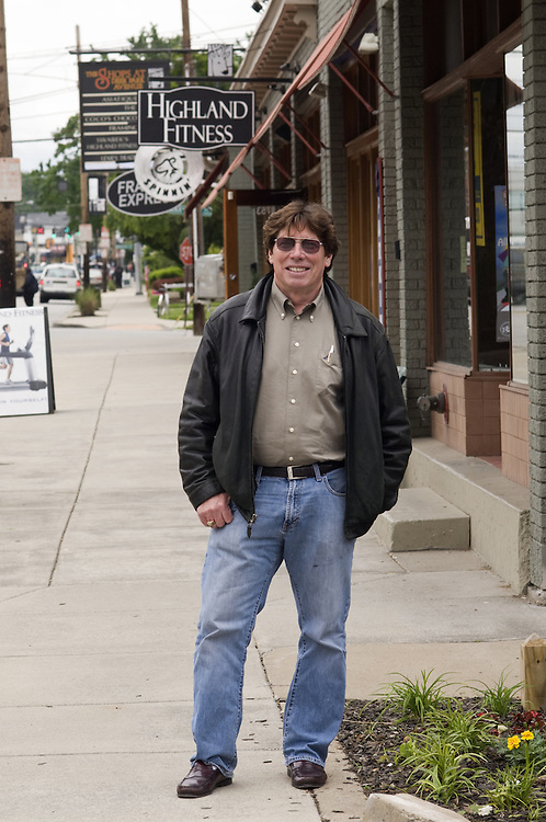 Jim Goodwin, Tuesday, May 17, 2011 on Bardstown Road in Louisville, Ky. (Photo by Brian Bohannon)
