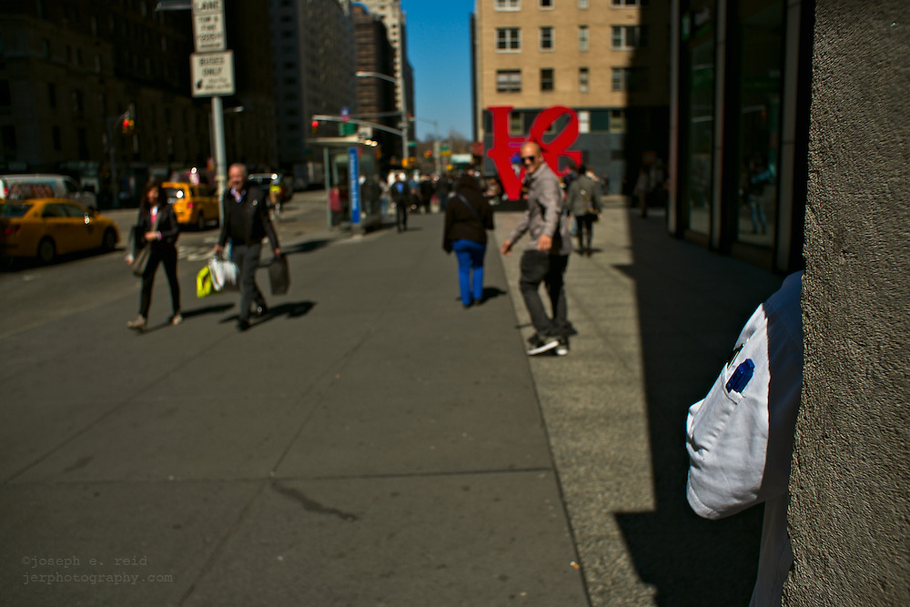 White sleeve and pens, 6th Avenue, New York, NY, US