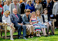 Oslo, 04-07-2017 <br /> <br /> <br /> 80th birthday celebration of Queen Sonja of Norway with members of the Royal Family at Queen Sonja Art Stables.<br /> <br /> <br /> COPYRIGHT: ROYALPORTRAITS EUROPE/ BERNARD RUEBSAMEN