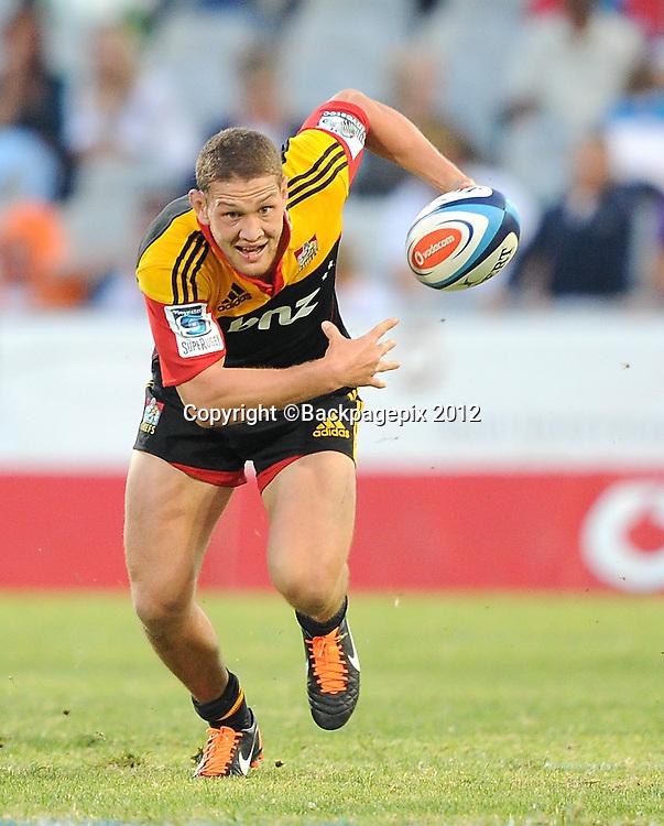 Robbie Robinson from Chiefs. Free State Stadium, Bloemfontein.<br /> &copy;DeneseLups/BackpagePix