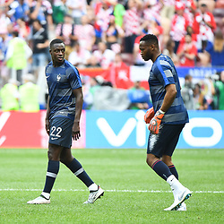 Benjamin Mendy and Steve Mandanda of France during the World Cup Final match between France and Croatia at Luzhniki Stadium on July 15, 2018 in Moscow, Russia. (Photo by Anthony Dibon/Icon Sport)