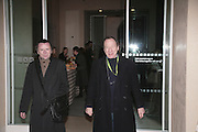 Tobias Malone and Antony Haden-Guest, Hogarth private view and dinner. Tate Britain. London. 5 February 2007.  -DO NOT ARCHIVE-© Copyright Photograph by Dafydd Jones. 248 Clapham Rd. London SW9 0PZ. Tel 0207 820 0771. www.dafjones.com.