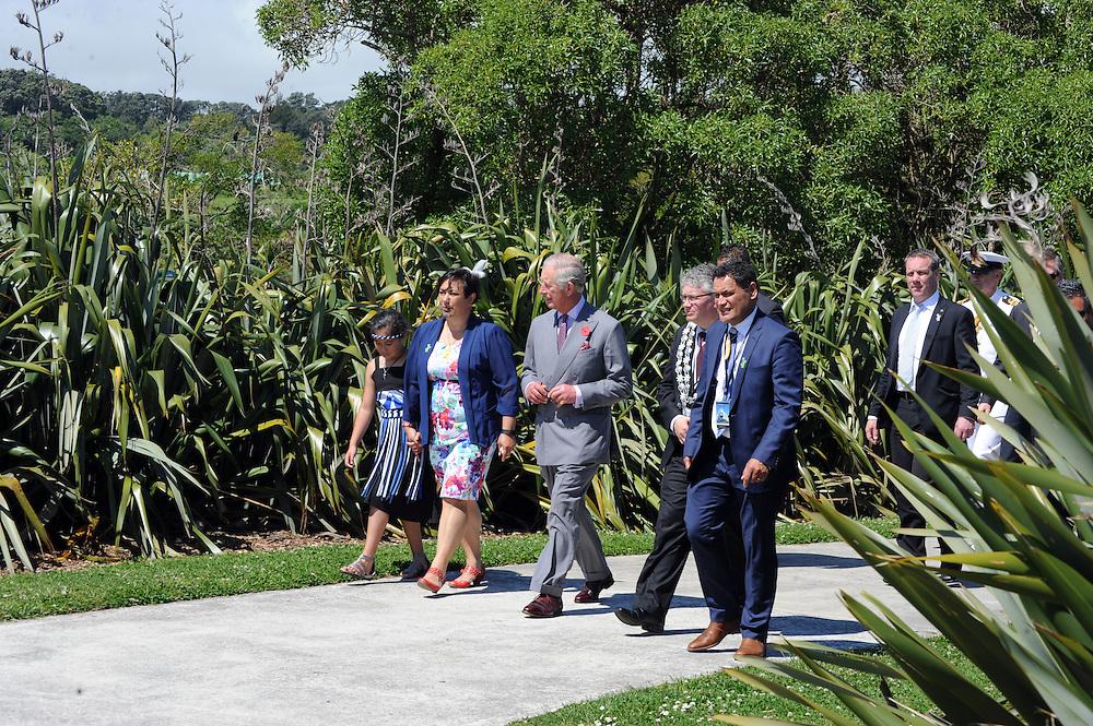 Prince Charles, Prince of Wales walks the Coastal Walkway, New Plymouth, New Zealand, New Zealand, Monday, November 09, 2015. Credit:SNPA / Ross Setford