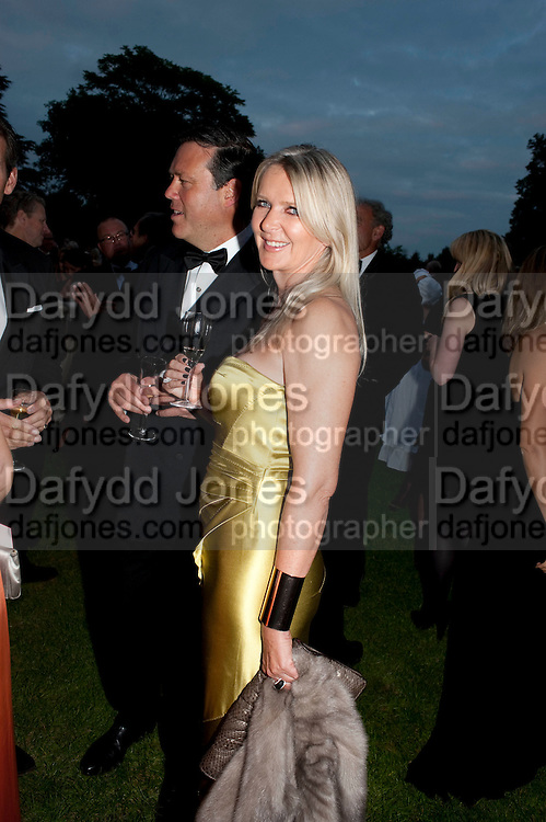 AMANDA WAKELEY, The Goodwood Ball. In aid of Gt. Ormond St. hospital. Goodwood House. 27 July 2011. <br /> <br />  , -DO NOT ARCHIVE-© Copyright Photograph by Dafydd Jones. 248 Clapham Rd. London SW9 0PZ. Tel 0207 820 0771. www.dafjones.com.