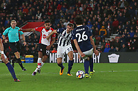 Football - 2017 / 2018 Premier League - Southampton vs. West Bromwich Albion<br /> <br /> Southampton's Sofiane Boufal opens the scoring with a wonder goal at St Mary's Stadium Southampton<br /> <br /> COLORSPORT/SHAUN BOGGUST