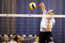 Saso Stalekar of Calcit Volley during 1st Leg volleyball match between ACH Volley and OK Calcit Volley in Final of 1. DOL Slovenian National Championship 2017/18, on April 17, 2018 in Hala Tivoli, Ljubljana, Slovenia. Photo by Urban Urbanc / Sportida