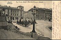 Zagreb (Croatie) : Trg Franje Josipa = Place de François Josephe. <br /> <br /> ImpresumZagreb : Naklada papirnice A. Brusina, 1906.<br /> Materijalni opis1 razglednica : tisak ; 8,8 x 13,7 cm.<br /> NakladnikTiskara A. Brusina<br /> Mjesto izdavanjaZagreb<br /> Vrstavizualna građa • razglednice<br /> ZbirkaGrafička zbirka NSK<br /> ProjektPozdrav iz Zagreba<br /> Formatimage/jpeg<br /> PredmetZagreb –– Trg kralja Tomislava<br /> Umjetnički paviljon (Zagreb)<br /> Jezikfrancuski • hrvatski<br /> SignaturaRZG-TOM-16<br /> Obuhvat(vremenski)20. stoljeće<br /> PravaJavno dobro<br /> Identifikatori000952751<br /> NBN.HRNBN: urn:nbn:hr:238:979287 <br /> <br /> Izvor: Digitalne zbirke Nacionalne i sveučilišne knjižnice u Zagrebu